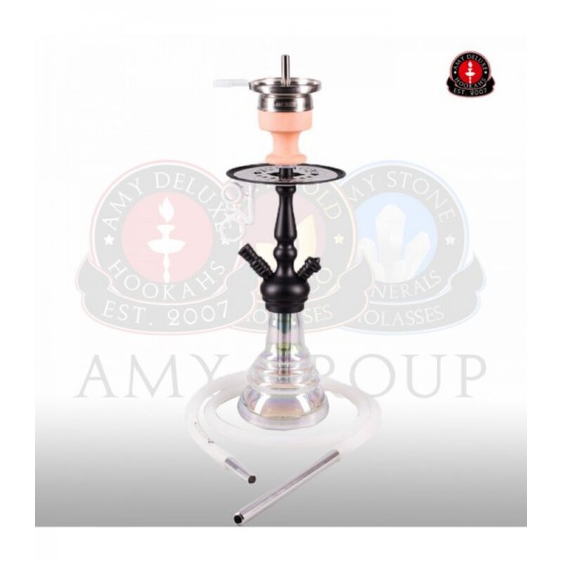 Amy Shisha Little Zuri R - Clear - RS Black Powder